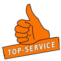 tus53 ThumbUpSign tus-v8 Daumen hoch - Top-Service orange g2153