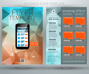 Abstract vector business flyer brochure template. EPS10