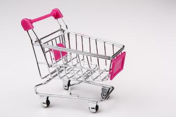Shopping cart on white background