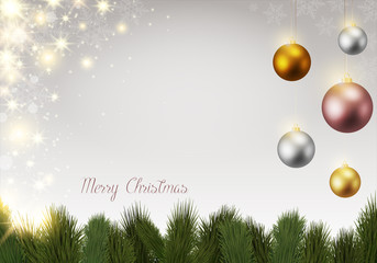 Hintergrund Weihnachten Christmas bunte Kugeln