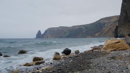 Marine, rocky seashore
