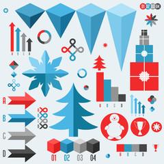 Christmas. Set of infographics elements