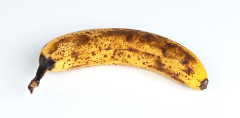 Closeup of an over-ripe Australian banana