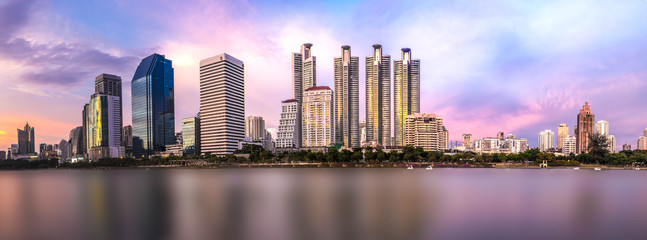 bangkok twilight cityscape
