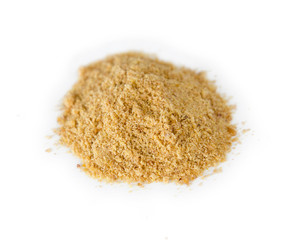 Ground flaxseed powder in a pile