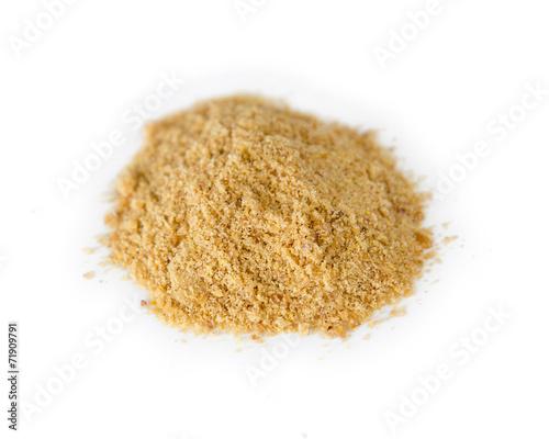 Plexiglas Granen Ground flaxseed powder in a pile