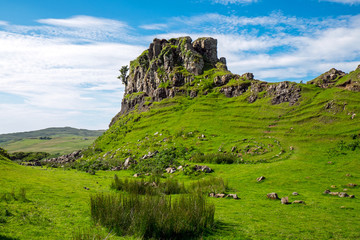 The Fairy glen on the Isle of Skye in Scotland