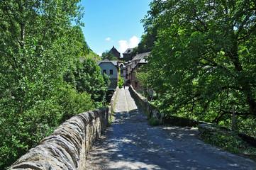 Il ponte romano di Conques, Aveyron - Francia