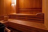 Sauna with bucket