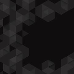 Black geometric background vector.