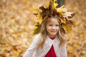 Portrait of a pretty liitle girl