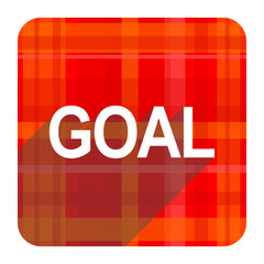 goal red flat icon isolated