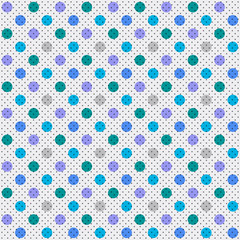 Vector Background # Polka Dot Pattern, Subdued Color