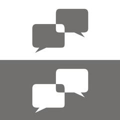 Icono comunicación 2 BN