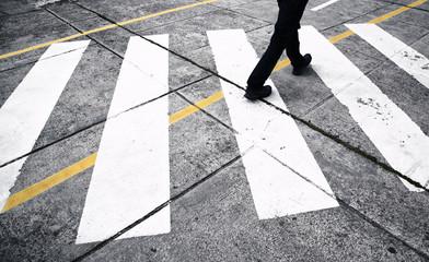 Pedestrian street crossing