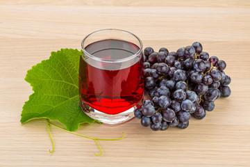 Grape juice and berries