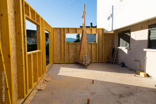 Poster Construction ossature bois