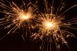 Burning christmas sparklers