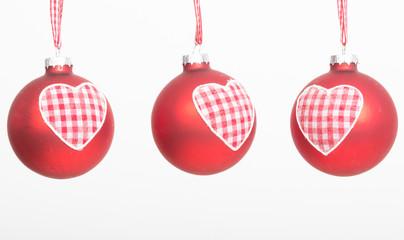 weihnachtsbaumschmuck mit herzen