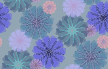 Striped Cornflowers Pattern