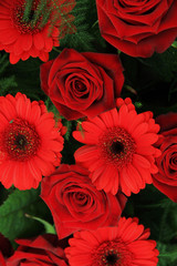 Red bridal arrangement