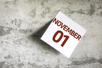 November 01 on Paper Note