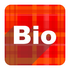 bio red flat icon isolated