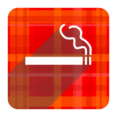 cigarette red flat icon isolated