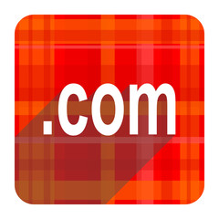 com red flat icon isolated