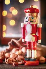 Traditional Christmas wooden nutcracker