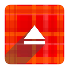 eject red flat icon isolated