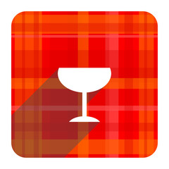 alcohol  red flat icon isolated