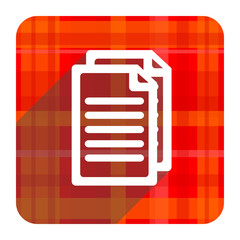 document red flat icon isolated