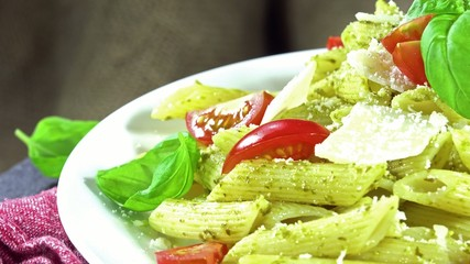 Penne with Pesto (seamless loopable)