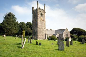 St Mawgan in Meneage church Cornwall England uk
