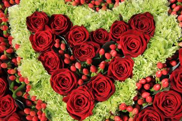 Red rose wedding arrangement