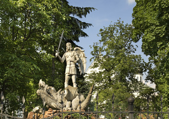 Symbol of Biala Podlaska - sculpture of the Archangel Michael