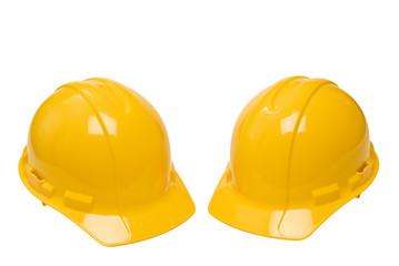 Two Yellow Hardhats