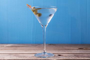 white martini glass, retro processing