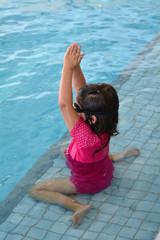 Child swimming pool lesson