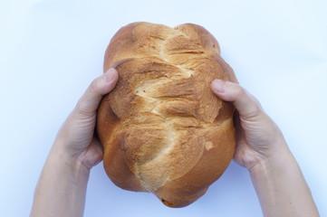 Mani di una panettiera