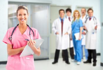 Medical doctors team