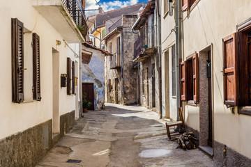 Sardegna, Tonara in provincia di Nuoro, strada nel centro