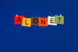 Alone ..? Sign for healthcare, medical fitness and mental health