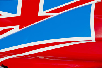 Union Jack on Race Car