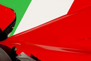 Italian Flag on Race Car