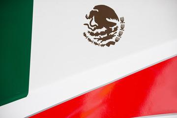 Mexican Flag on Race Car