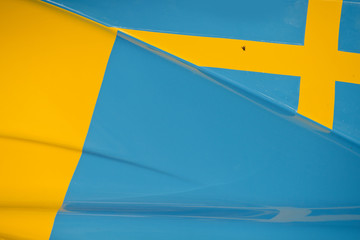 Swedish flag on race car