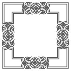 Blank garnished frame, Ancient style border