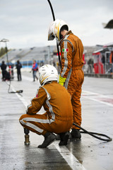 Waiting Pit Crew